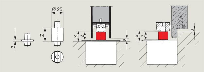 Floor Spring Pivot Extensions   Woodwood Door Controls