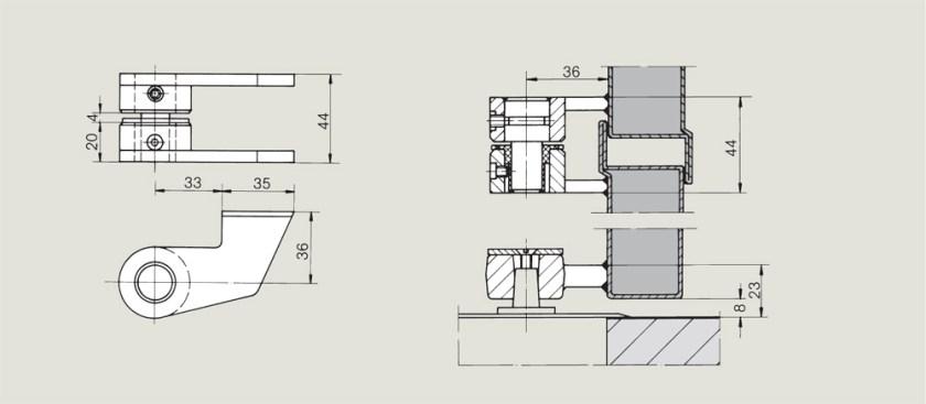 Weld on top centre   Woodwood Door Controls
