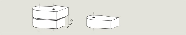 cover caps for a rebated door | Woodwood Door Controls