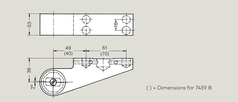 dormakaba 36mm offset door strap   Woodwood Door Controls