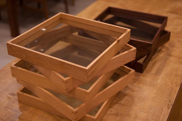 正方形の木製フレーム「フローフレーム」がたくさん仕上がりました
