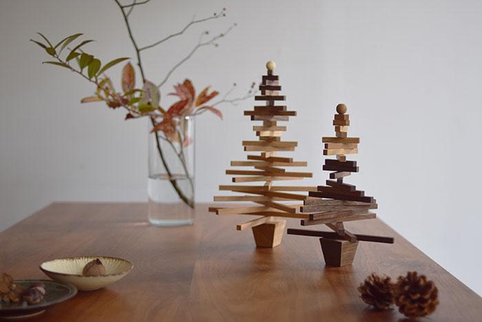 木の小物クリスマスツリーのご注文を承ります