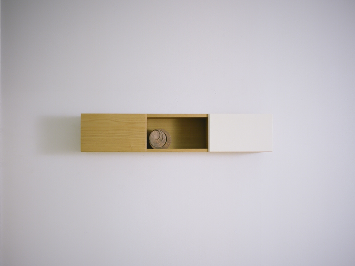 TONE WALL SHELF / tamo + white