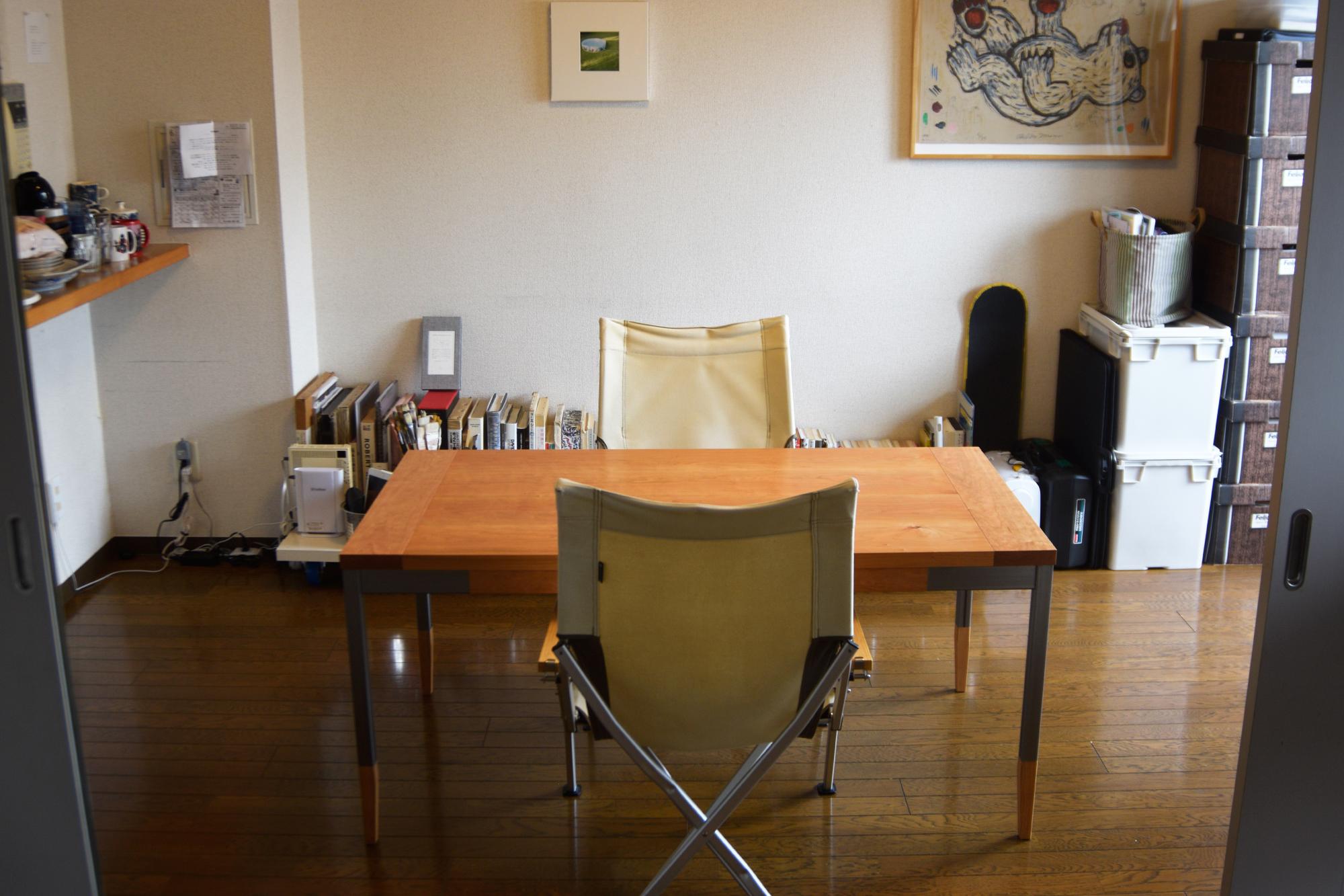オルタナティブテーブル テーブルの高さが少し低めで製作