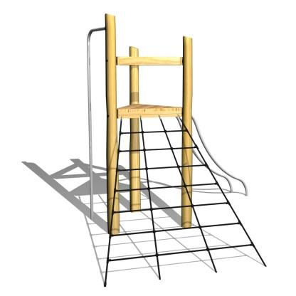 Klättertorn, klätterställning , brandmanstång, woodwork ab