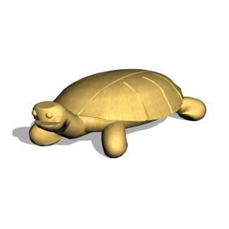 Woodwork AB-temalek-sköldpadda i robinia