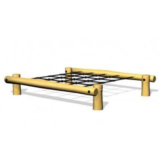 Woodwork AB - rakt klätternät av robinia som kan användas fristående eller som del av hinderbana/lekplats