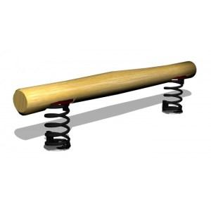 Woodwork AB G2954 balansbom på fjädrar av obehandlad robinia som passar bra som del av hinderbana