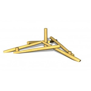 G2969 Pyramis av robiniastolpar från Woodwork AB