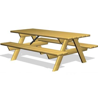 Woodwork AB-bord-bankset i trä-picknickbord