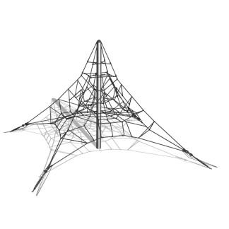 Woodwork AB-Klätterpyramid i stål, 3m