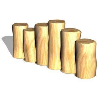 Woodwork AB-Pallisadkant-ojämn eller jämn