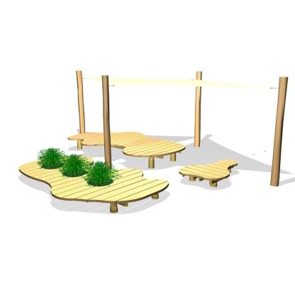 Woodwork AB-Sittmöbel med solsegel