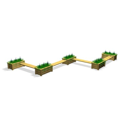 Woodwork AB-ChillOut-sittgrupp-bänkar & odlingslådor