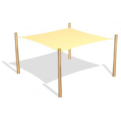 G26414 Fyrkantigt solsegel från Woodwork AB