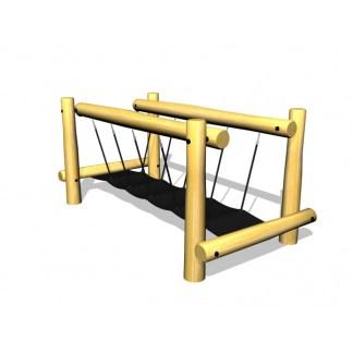 G3554 Rörlig hängbro i robinia och gummi från Woodwork AB
