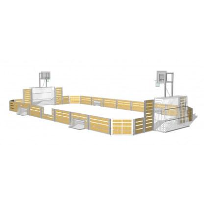 G52304 Rektangulär multibana med basketkorgar från Woodwork AB