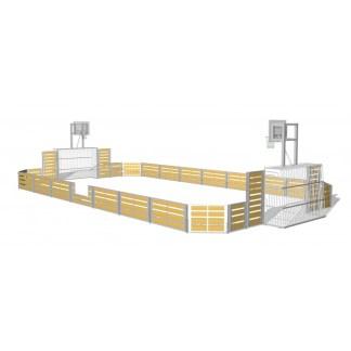 G52308 Rektangulär multibana med basketkorgar från Woodwork AB