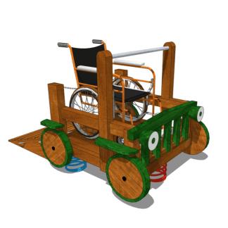 Woodwork AB-fjäderlek för rullstol