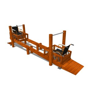 Woodwork AB-Gungbräda för rullstol
