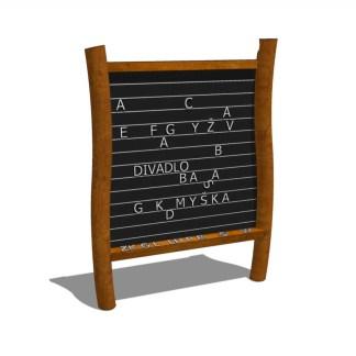 WoodworkAB-Lek&lär med magnettavla med bokstäver