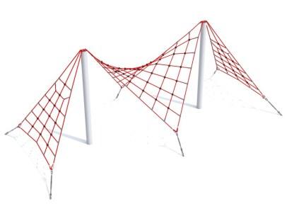 Woodwork AB-Klätterpyramid3D med dubbla klätternät