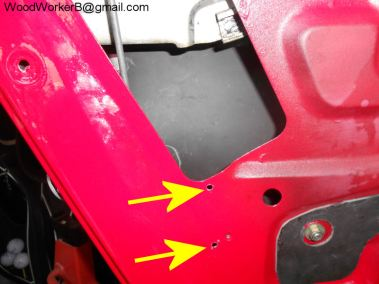 Datsun 240Z power door lock solenoid Mounting holes