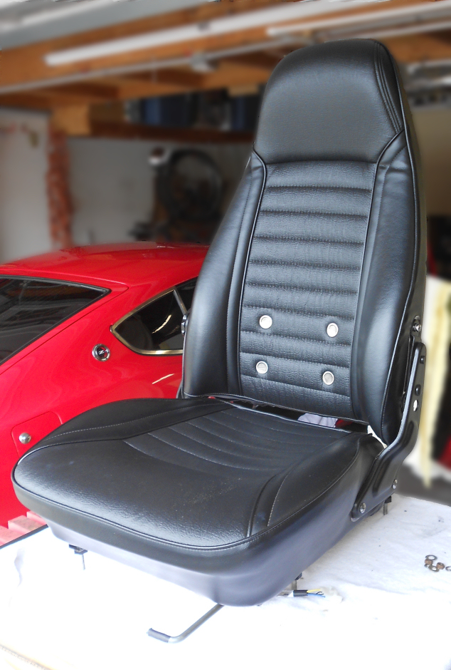 Finished seat, , Datsun 240Z seat refurbish, WoodWorkerB