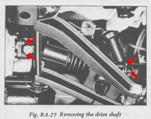 Datsun 240Z Half-Shaft Rebuild - FSM Removing the Drive Shaft