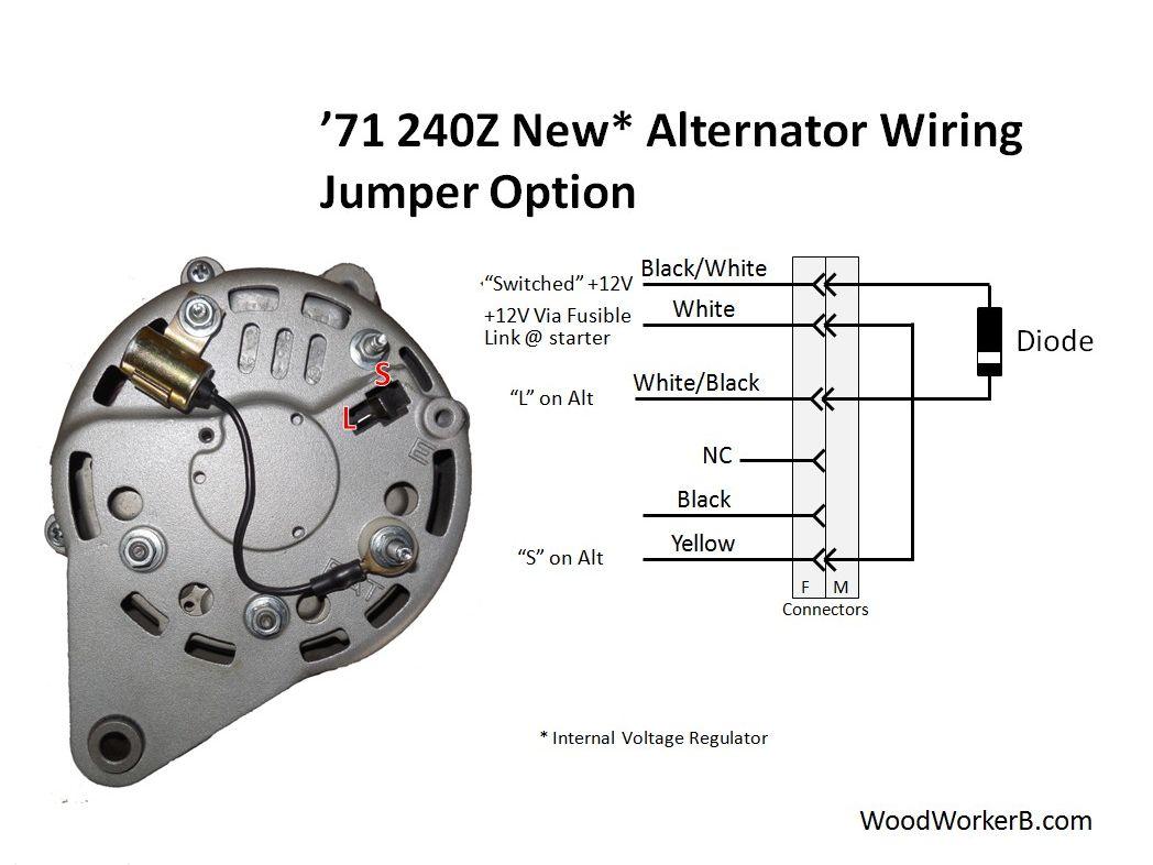 240z Alternator Upgrade Woodworkerb