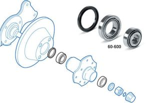 Datsun 240Z Front Wheel Bearing & Dust Seal Locations (Black Dragon)
