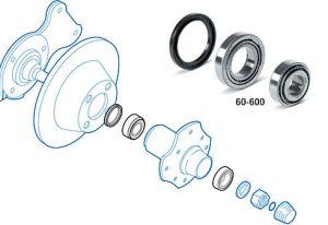 Datsun 240Z Front Wheel Bearing & Dust Seal Locations (Black Dragon)