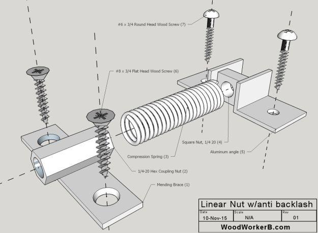 DIY CNC Lead Screw Nut with Anti Backlash