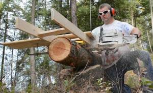 How To Cut Wood Slabs With A Chainsaw Mill