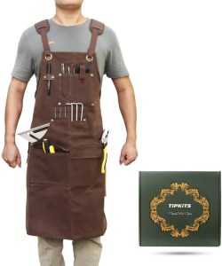 Tipkits Woodworking Apron - best leather woodworking apron - best workshop apron