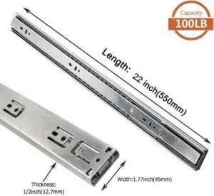 7. LONTAN 4502S3-22 Metal Drawer Slides