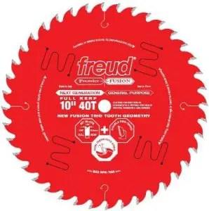 Freud 10 Inch x 40T Next Generation Premier Fusion General Purpose Blade
