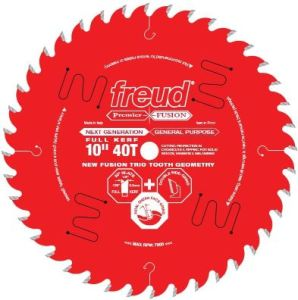 Freud 10 Inch x 40T Next Generation Premier Fusion General Purpose Blade