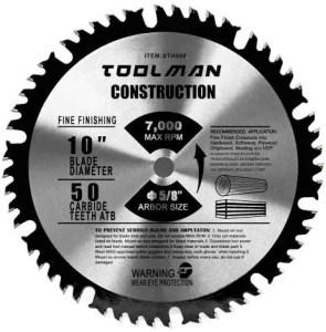 Toolman Premium Multifunctional Carbide-Tipped Circular Saw Blade