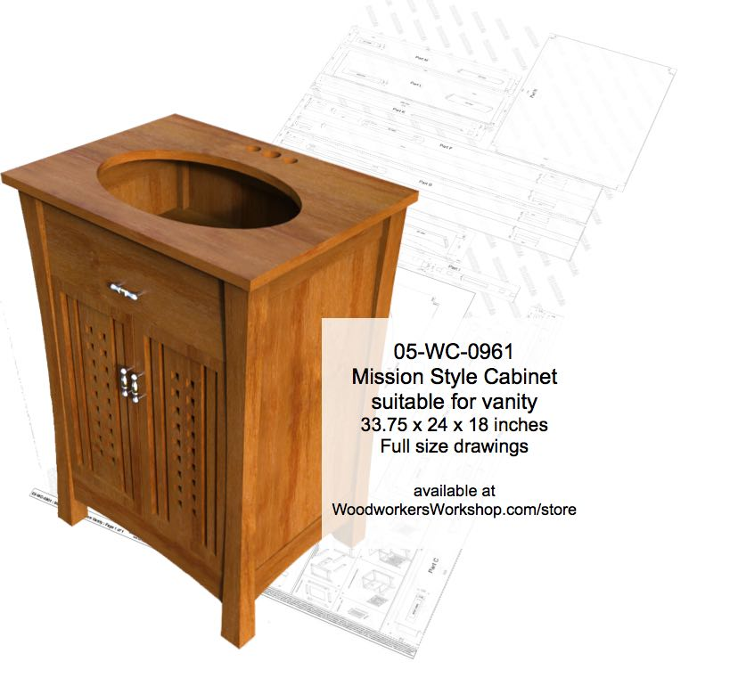 mission style cabinet woodworking plan