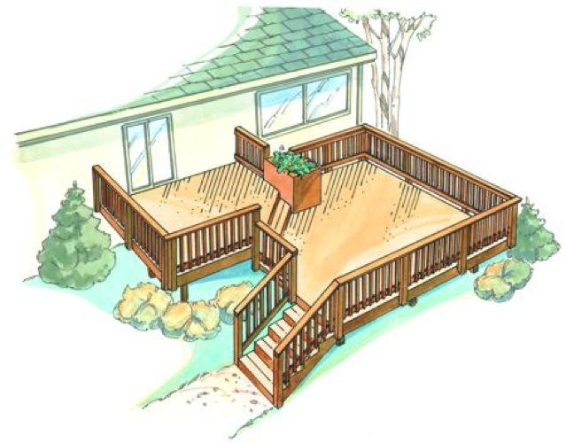 Bi-Level Deck Vintage Construction Plan