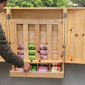 Creative Idea For Your Garage // How to build a wall mounted Canned Food Storage & Organizer