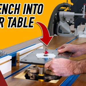 Combining my Router Table and Miter Saw Bench to Save Space.