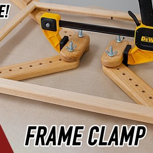 How to make a picture frame clamping jig.