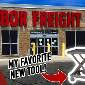 My NEW Favorite Tool from Harbor Freight | Hydraulic Table Cart