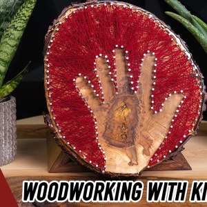 String Art Woodworking Project You Can Make with the Kids!