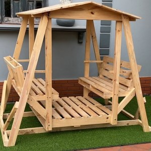 The Pallet Design And Concept Certainly Do Not Disappoint // Double Lawn Swings & Gliders For Your