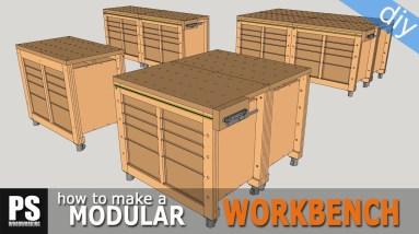 Modular Workbench & Mobile Tool Stand Build (Ep.1)