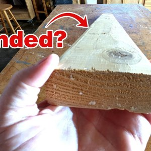 Why do 2x4 boards have rounded edges? #shorts
