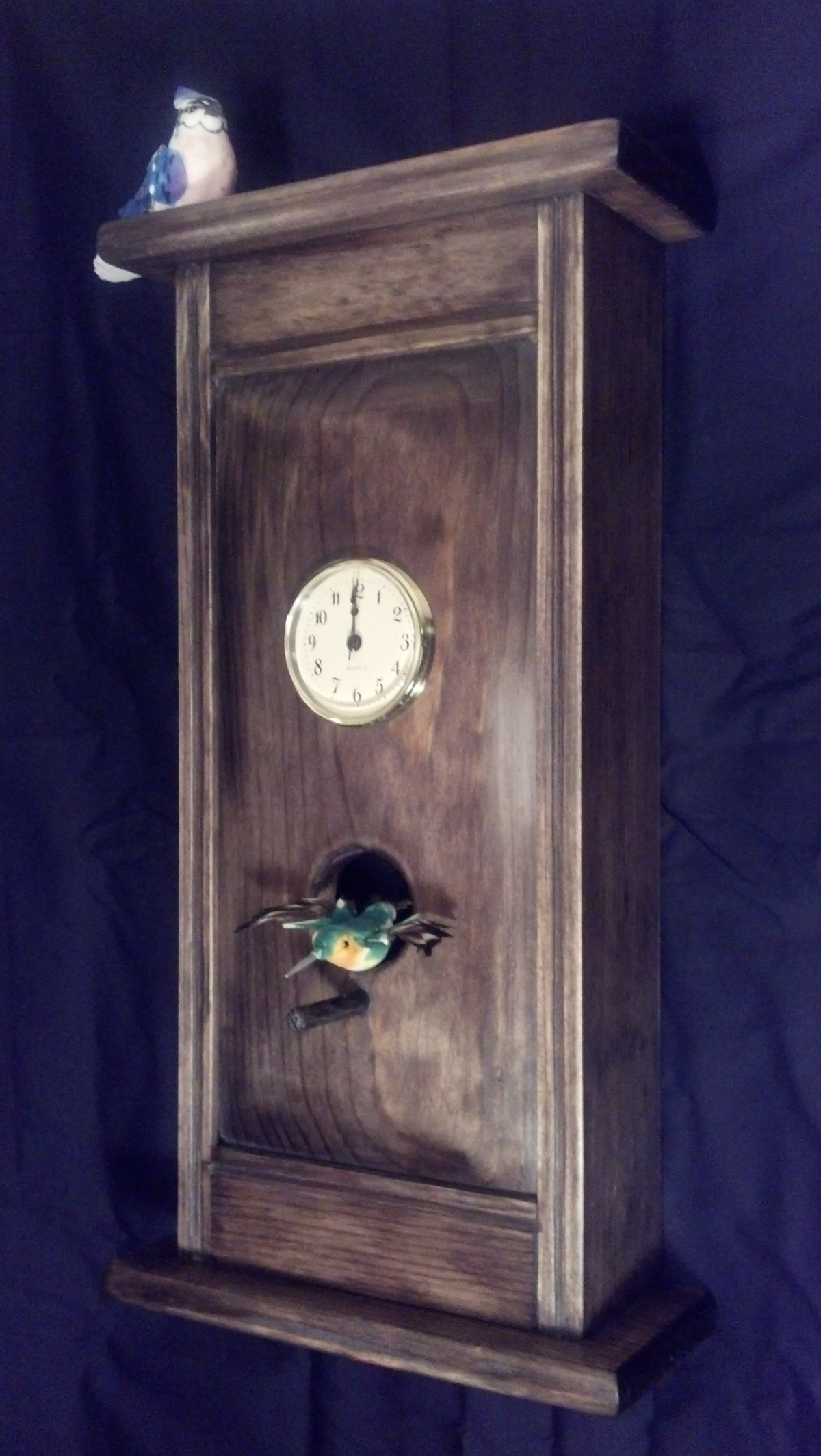 Andy Cleland Dark Wall Clock